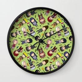 Naruto Pattern Jutsu Wall Clock