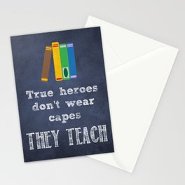They Teach | Teacher Appreciation Stationery Cards