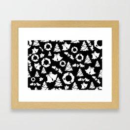 Classic Christmas in Black and White Framed Art Print