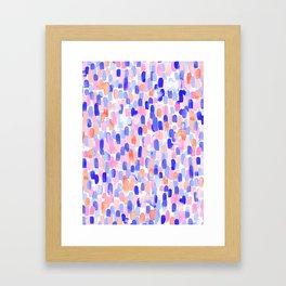 Delight Blue Orange Framed Art Print