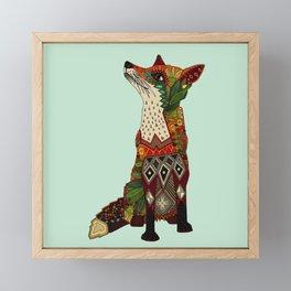 fox love mint Framed Mini Art Print