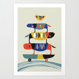 Skate dog Art Print