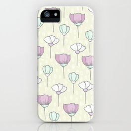 flowers pattern zz iPhone Case