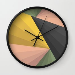 Geometric Colors Wall Clock