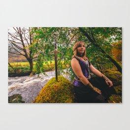 Sword, She & Stone Canvas Print