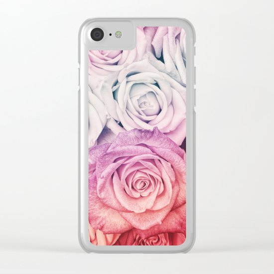 Some people grumble II  Floral rose flowers pink and multicolor Clear iPhone Case
