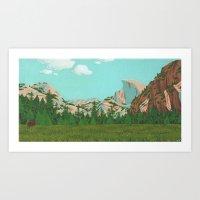 yosemite Art Prints featuring Yosemite by Valeriya Volkova