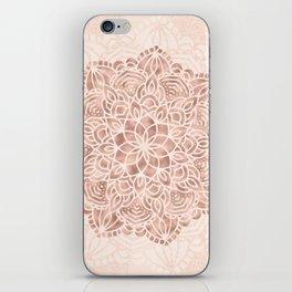 Mandala Seashell Rose Gold Coral Pink iPhone Skin