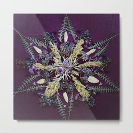 Nature Mandala: September Metal Print