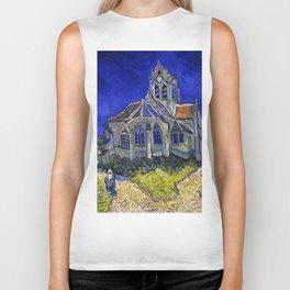 """Vincent Van Gogh """"The Church In Auvers Sur Oise"""" Biker Tank"""