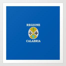 Flag of calabria Art Print