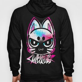 metal cat icon color Hoody
