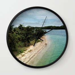 Tropical Beach Vibes in Fiji Islands Wall Clock