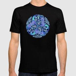 7 Blue Celtic Horses T-shirt