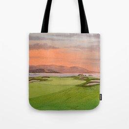 Pebble Beach Golf Course Hole 17 Tote Bag