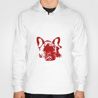frenchie Hoodies featuring Frenchie by Red Eyes Apparel