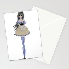 Shy Lolita Girl Stationery Cards