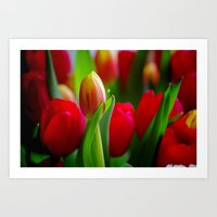 easter Art Prints featuring Easter by Herzensdinge