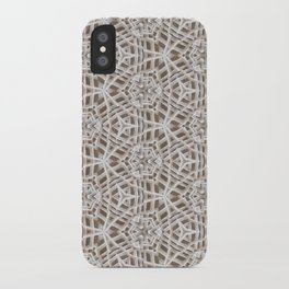 White Plastic Weave Pattern iPhone Case