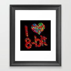 i heart 8-bit Framed Art Print
