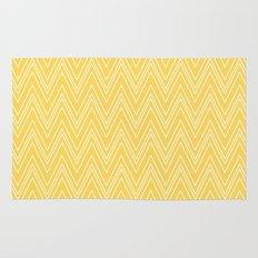 Yellow Skinny Chevron Rug