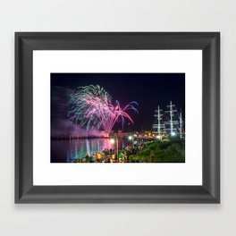 Miramichi Fireworks Framed Art Print