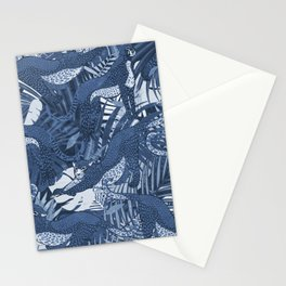 Big Cats in the Night / Cheetahs in Blue Stationery Cards