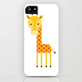 Adorable Giraffe standing up iPhone Case