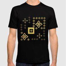 shapes MEDIUM Mens Fitted Tee Black