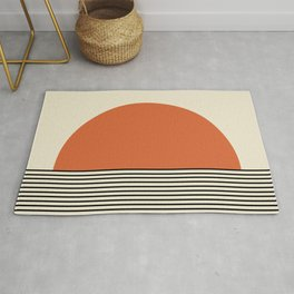 Sunrise / Sunset - Orange & Black Rug
