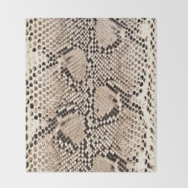 Snake skin art print Throw Blanket
