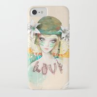 war iPhone & iPod Cases featuring War girl by Ariana Perez