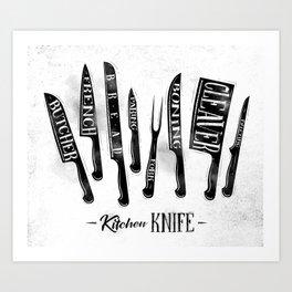 Kitchen knife Art Print