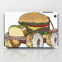 junk food iPad Cases featuring junk food car by immiggyboi90