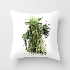 YODA STAR . WARS Throw Pillow