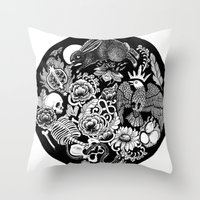 alchemy Throw Pillows featuring Alchemy  by Emily N3ver