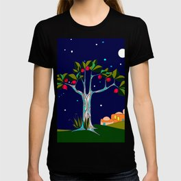 A Pomegranate Tree in Israel at Night, Harvest T-shirt