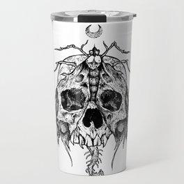 Moth Skull Travel Mug