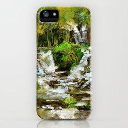 Waterfall Illustration  iPhone Case