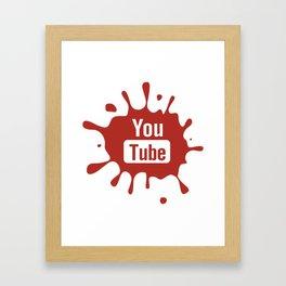 youtube youtuber - best designf or YouTube lover Framed Art Print