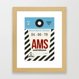 Amsterdam KLM Tag Framed Art Print