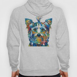 Colorful Yorkie Dog Art - Yorkshire Terrier - By Sharon Cummings Hoody