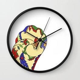 Bird and Flower Wall Clock