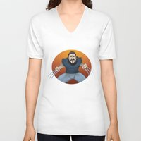 chad wys V-neck T-shirts featuring Chad-verine by Art By Someone