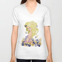 lucy V-neck T-shirts featuring Lucy by carotoki art and love