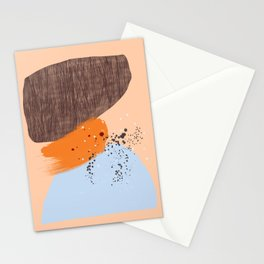 Mushrooms and Lichen abstract mid-century modern art Stationery Cards