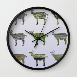 Ode to the Burren goats Wall Clock