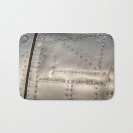 Aluminium Aircraft Skin Abstract Texture Bath Mat