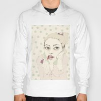 lipstick Hoodies featuring lipstick by Cecilia Sánchez