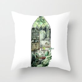 Wizard Window of Ambition Throw Pillow